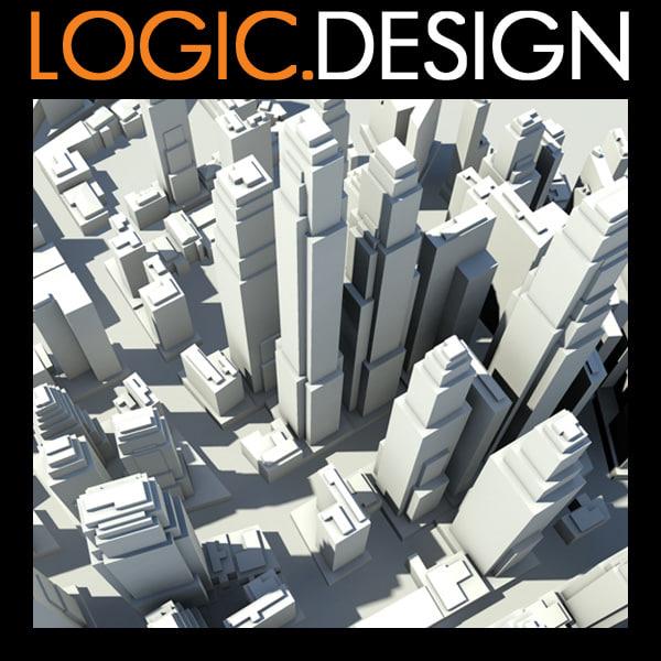3d architecture buildings