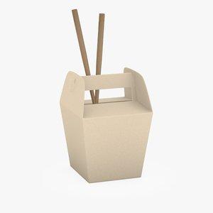 3d foodbox chopsticks