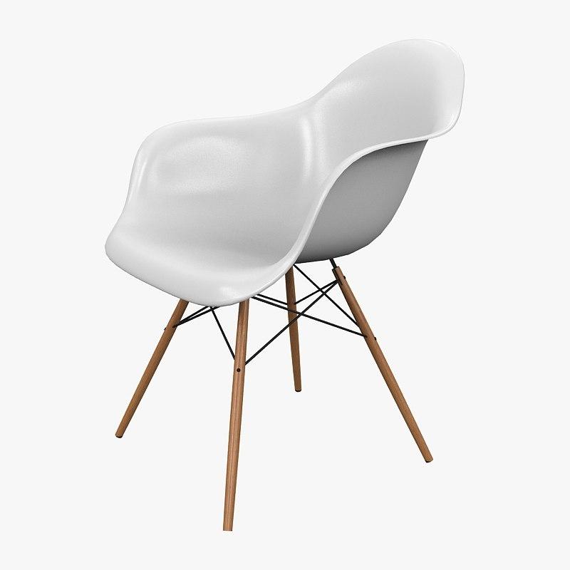 chair armchair vitra 3d model