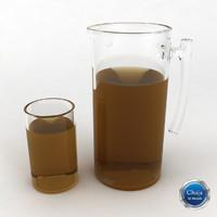 pitcher glass juice dxf