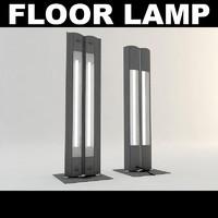 3d model office floor lamp