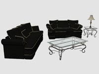 3d living room set