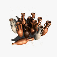 3d model amphoras rome roman