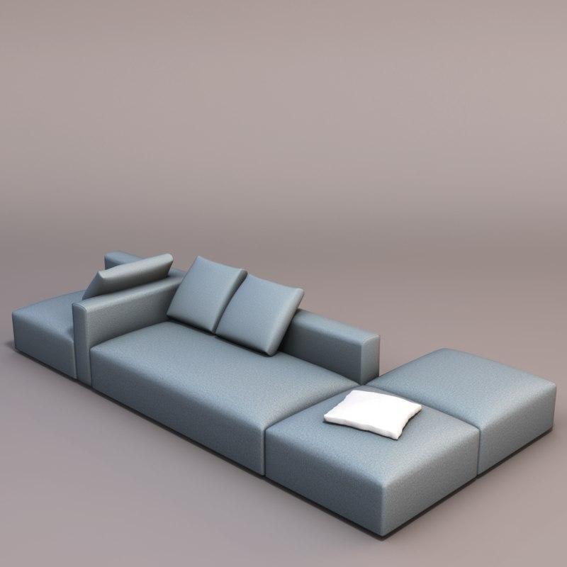 3d lounge sofa model