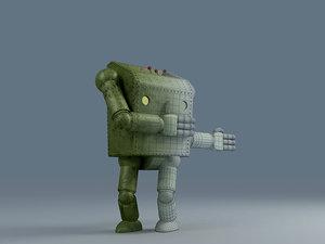 robot conan 3d model