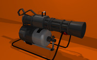 3d minigun gun weapon model
