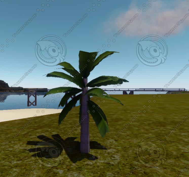 3d model small palmtree