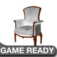 3d victorian chair white model