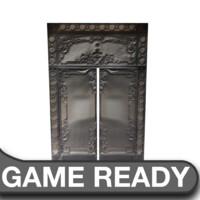 Victorian Glass Metal Door
