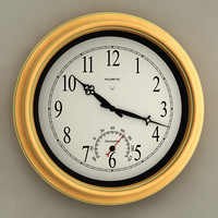 Wall Clock with Thermometer 01