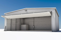 aircraft hangar 3d model