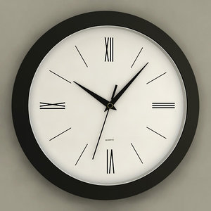 3d analog wall clock model