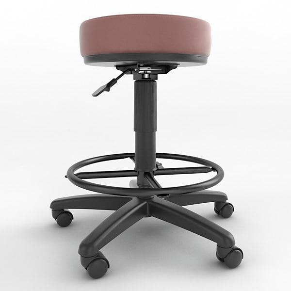 3d model ergonomic stool height adjustment