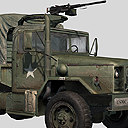 m35a2 military cargo truck 3d max