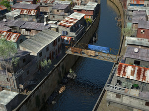 3d model slum city