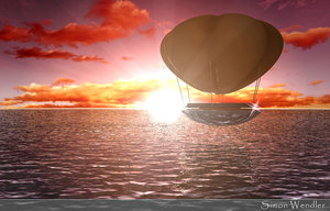balloon sunset 3d model