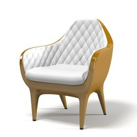 Barcelona Showtime Kezu Armchair tufted laquered glamour  contemporary modern outdoor plastic