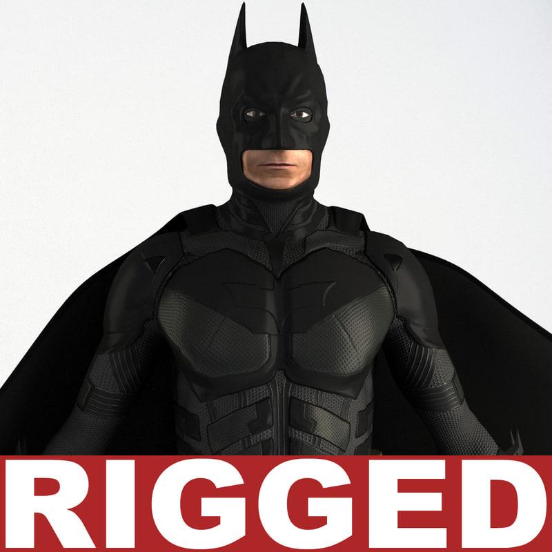 3d batman rigged