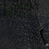 combat knife 3d blend