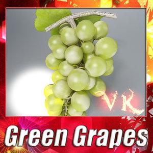 green grapes resolution 3d model