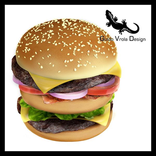 big hamburger 3d model