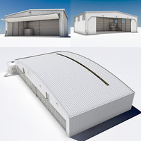 Hangar Industrial Building Set 3 Sizes