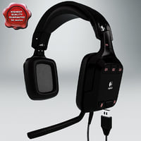 headphones logitech g35 3d model