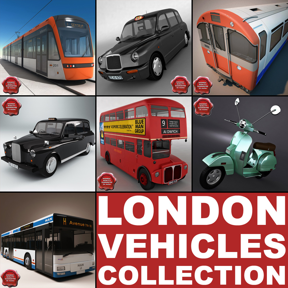 london vehicles v3 obj