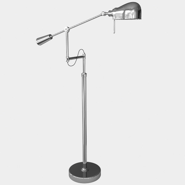 free modern ralph lauren floor lamp 3d model