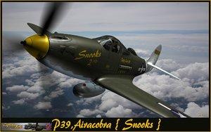 3d p39 airocobra fighter