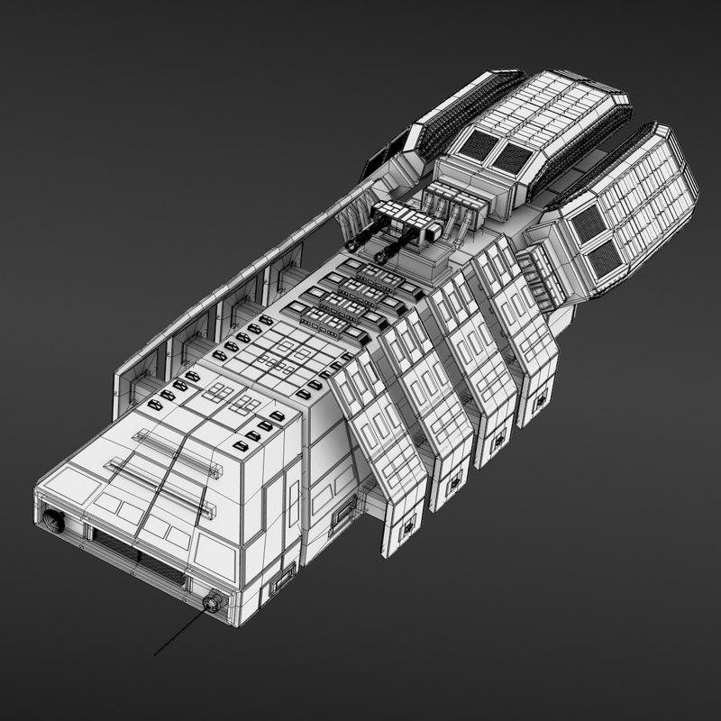 3ds max ship transportation