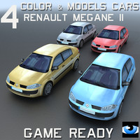 4 Color & Models Cars Megane II