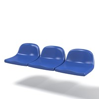 3d model stadium seat arena