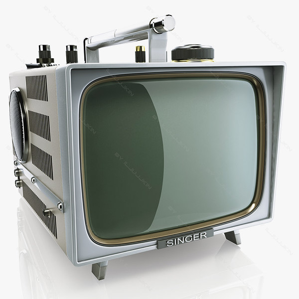 retro portable tv singer 3d model