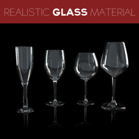 3d pack 4 wine glasses
