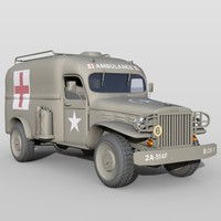 army ambulance vehicle 3d model