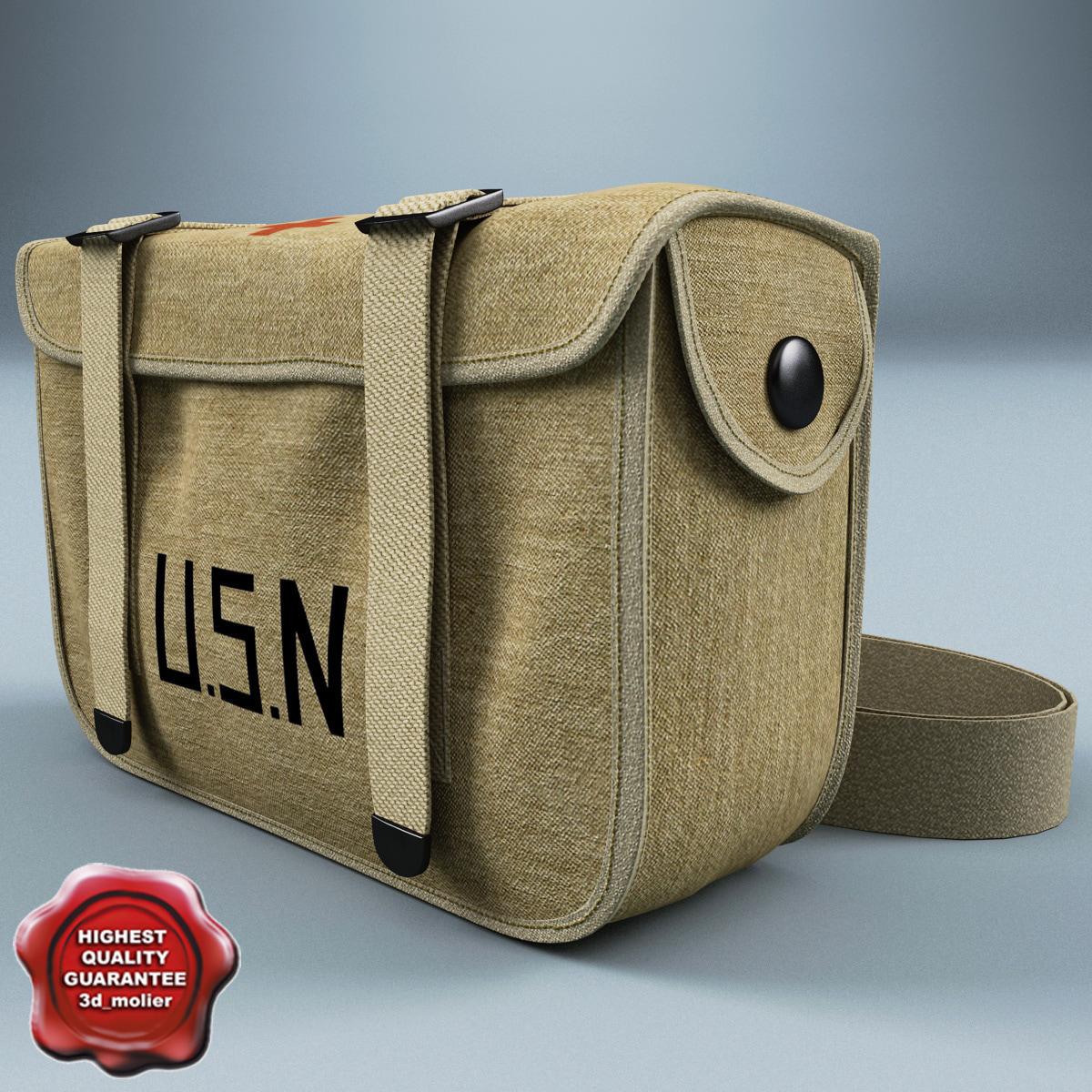 usn military aid kit c4d