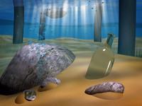 underwater scene water 3d model