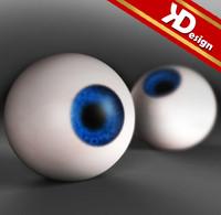 3d model blue eye