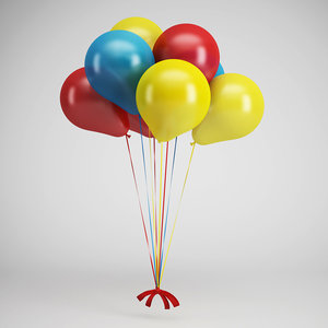 party balloons 07 3d max