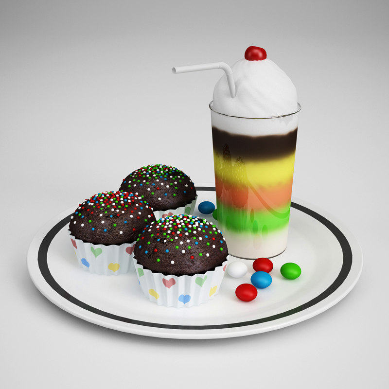 party food - shake 3d c4d