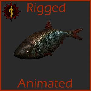 3d fish animation model
