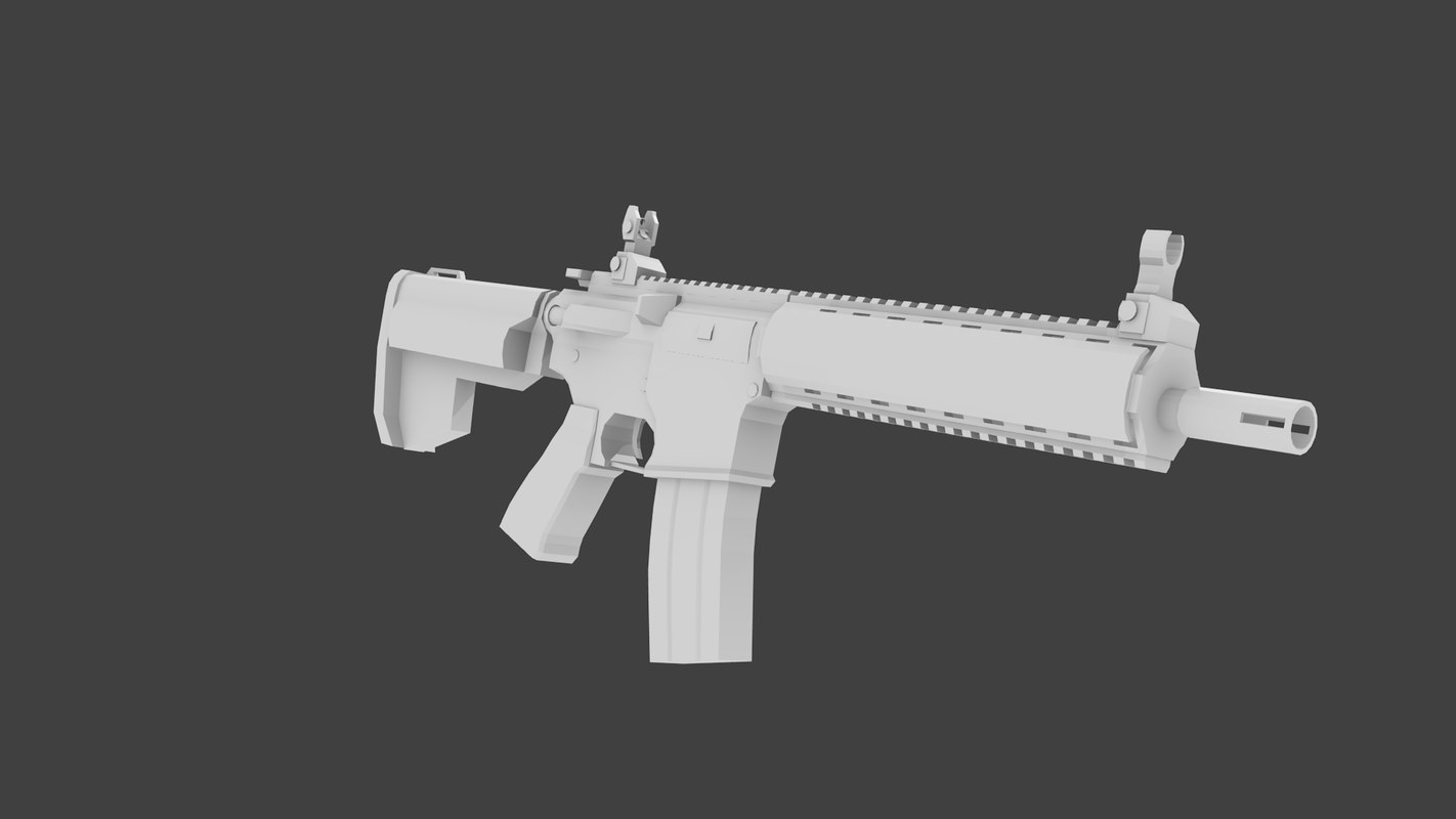 lwrc assault rifle 3d 3ds