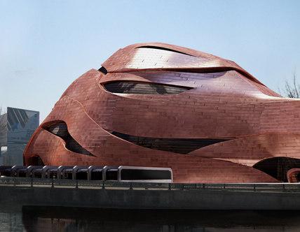 3dsmax futuristic building