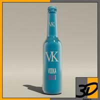 3d max bottle vk blue