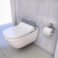 duravit toilet 3d obj