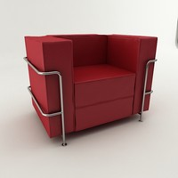 real modern leather sofa 3d 3ds