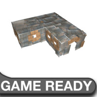3d slum triple shack