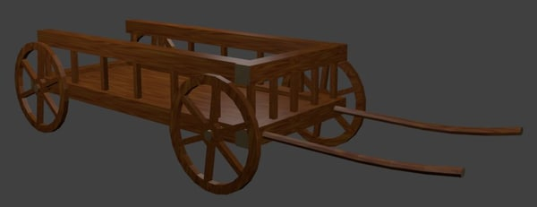 x old wooden cart wheels