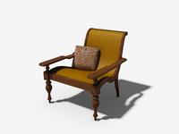 wicker chair 3d max